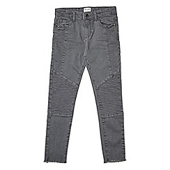 Outfit Kids - Girls' grey skinny fit biker jeans