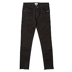 Outfit Kids - Girls' black skinny fit biker jeans