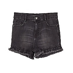 Outfit Kids - Girls' washed black denim shorts