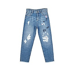 Outfit Kids - Girls' vintage wash relaxed jeans