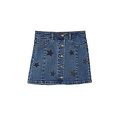 Outfit Kids - Girls' blue star print denim skirt