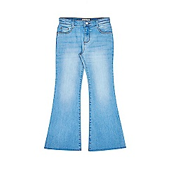 Outfit Kids - Girls' blue sunbleached flared jeans