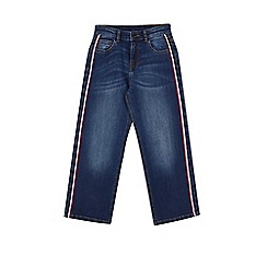 Outfit Kids - Girls' blue side tape wide leg jeans