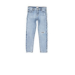 Outfit Kids - Girls' blue fringe side jeans