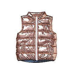Outfit Kids - Girls' rose gold metallic gilet