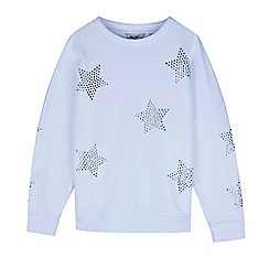 Outfit Kids - Girls' white star studded slouch sweat top