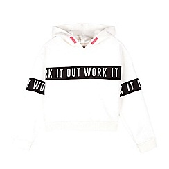 Outfit Kids - Girls White Hooded Sweatshirt