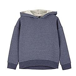 Outfit Kids - Girls' blue denim marl slogan hoodie