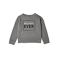 Outfit Kids - Girls' grey 'Best Outfit Ever' sweatshirt