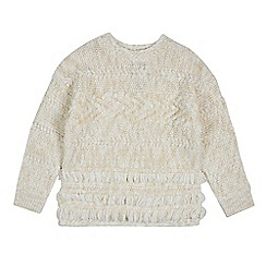 Outfit Kids - Girls' cream cable knit jumper