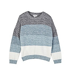 Outfit Kids - Girls' blue space dye jumper