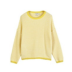 Outfit Kids - Girls' yellow chunky knitted jumper