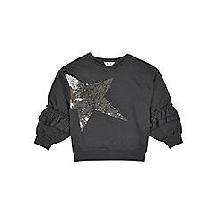 Outfit Kids - Girls' black big sleeve sweatshirt
