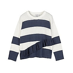 Outfit Kids - Girls' blue stripe knitted jumper