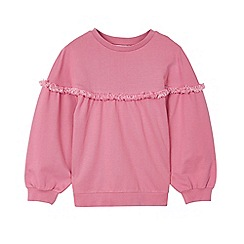 Outfit Kids - Girls' pink fringe oversized sweat top