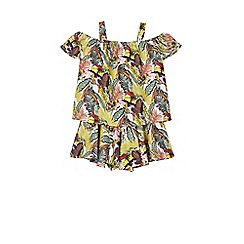 Outfit Kids - Girls' jungle printed top and shorts set