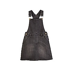 Outfit Kids - Girls' washed black pinafore dress