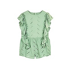 Outfit Kids - Girls' khaki broderie playsuit