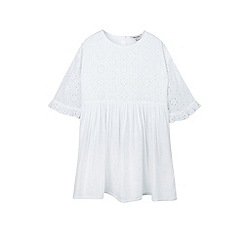 Outfit Kids - Girls' white broderie mix dress