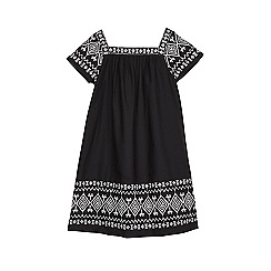 Outfit Kids - Girls' black & white broderie dress