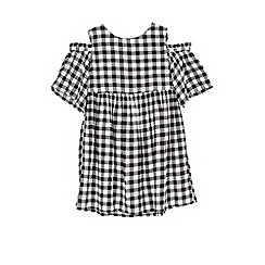 Outfit Kids - Girls' black cold shoulder dress