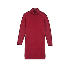 Outfit Kids - Girls' red ribbed midi jumper dress