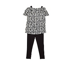 Outfit Kids - Girls' grey zebra tunic set
