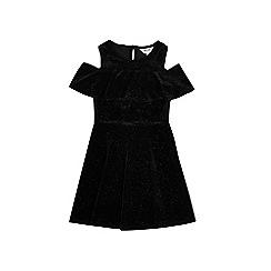 Outfit Kids - Girls' black velvet dress