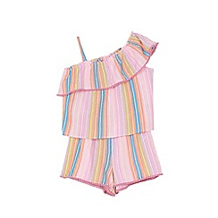 Outfit Kids - Girls' pink woven off shoulder top