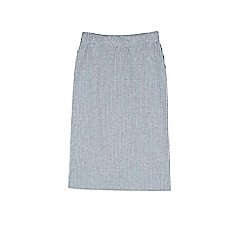 Outfit Kids - Girls' grey ribbed midi skirt
