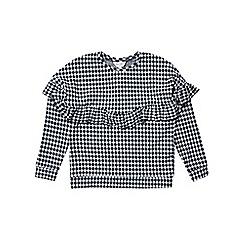 Outfit Kids - Girls' gingham frill sweatshirt