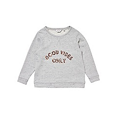 Outfit Kids - Girls' grey neppy sweatshirt