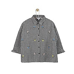 Outfit Kids - Girls' black gingham shirt