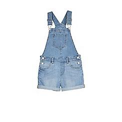 Outfit Kids - Girls' denim dungaree shorts
