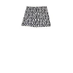 Outfit Kids - Girls' grey zebra print shorts