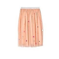 Outfit Kids - Girls' pink mesh sequin embellished skirt