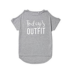Outfit Kids - Girls' grey todays outfit top