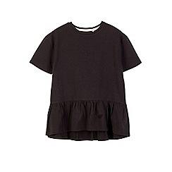 Outfit Kids - Girls' black frill hem top