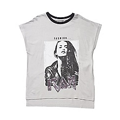 Outfit Kids - Girls' grey 'Fashion Icon' top