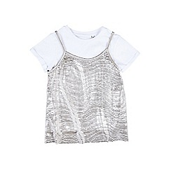 Outfit Kids - Girls' silver pewter top