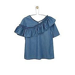 Outfit Kids - Girls' blue top with frill