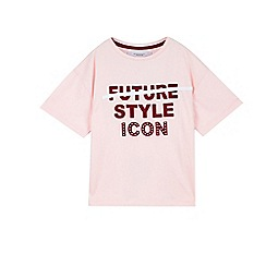 Outfit Kids - Girls' pink cropped t-shirt