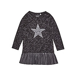 Outfit Kids - Girls' charcoal boucle star print top
