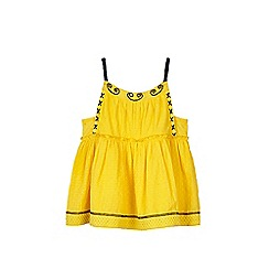 Outfit Kids - Girls' yellow dobby camisole vest top