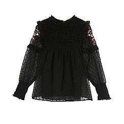 Outfit Kids - Girls' black embellished top