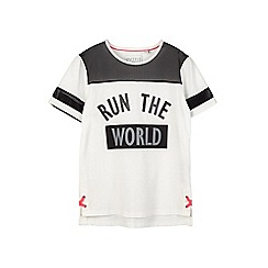 Outfit Kids - Girls' white slogan sports t-shirt