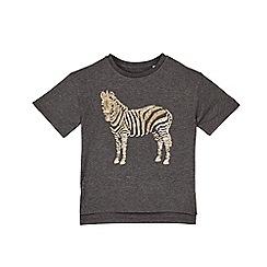 Outfit Kids - Girls' black sequin zebra t-shirt