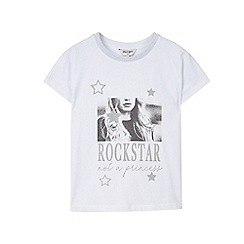 Outfit Kids - Girls' white sparkle t-shirt