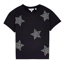 Outfit Kids - Girls' black star stud t-shirt