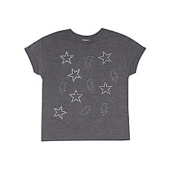 Outfit Kids - Girls' grey star graphic top